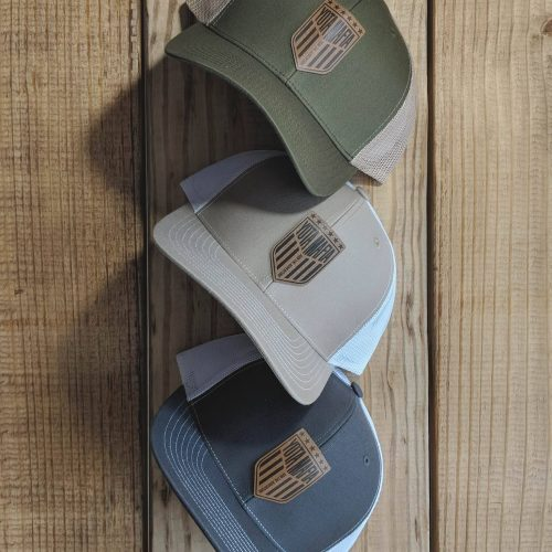 **NEW** ADVENTURE LEATHER PATCH TRUCKER HAT (3 COLORS)