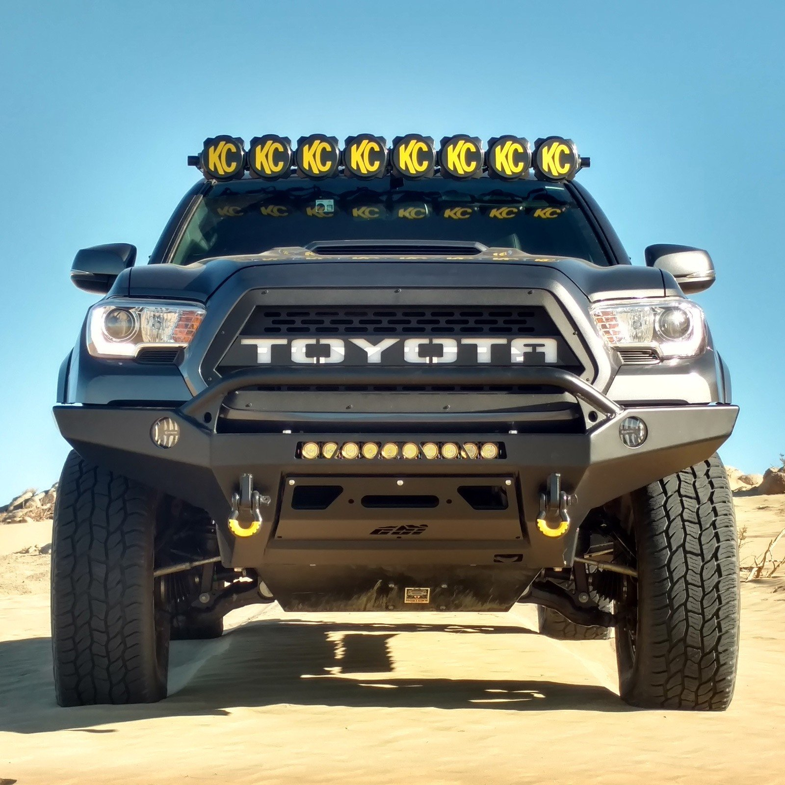 Kc Hilites Gravity Led Pro6 05 18 Toyota Tacoma 8 Light Combo Bar