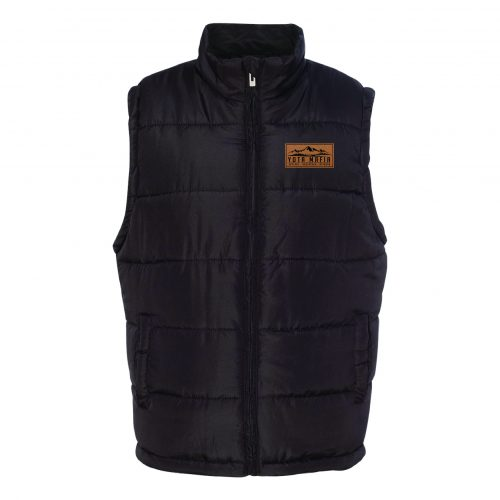 YM Puffer Vest w/Leather Patch