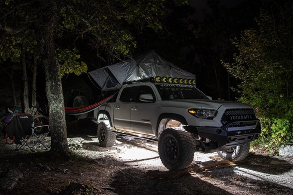 3rd Gen Tacoma YotaMafia Rock Light Kit + 6 KC Hilites Pure White Cyclones Install