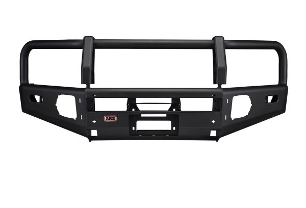 ARB Summit Front Bumper Integrit™ Textured Black Powder Coat Finish Air Bag Compatible Tow Points Light + Antenna Mounts ARB Fog Lights Included For 3rd Gen Tacoma (2016+)