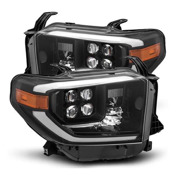 AlphaRex NOVA-Series LED Projector Headlights Black For 2nd Gen Tundra (2014+)