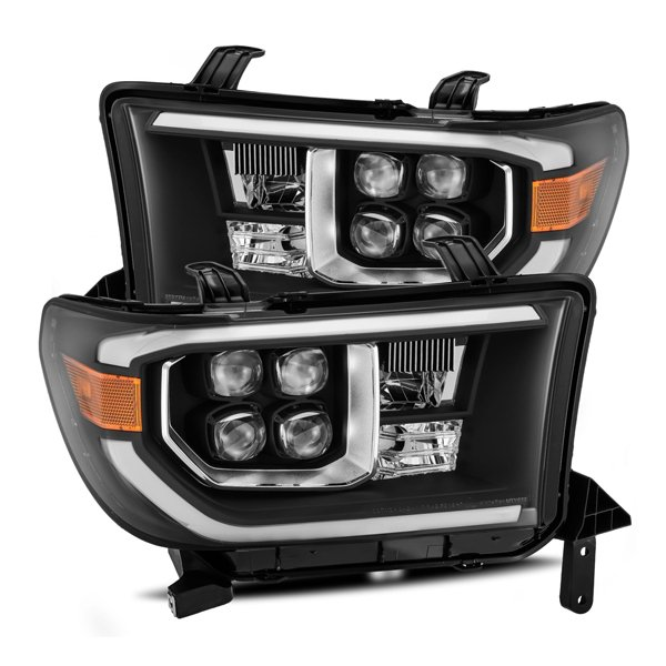 AlphaRex NOVA-Series LED Projector Headlights Black For 2nd Gen Tundra (2007-2013)