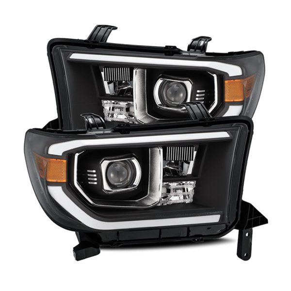 AlphaRex PRO-Series LED Projector Headlights Black For 2nd Gen Tundra (2007-2013)