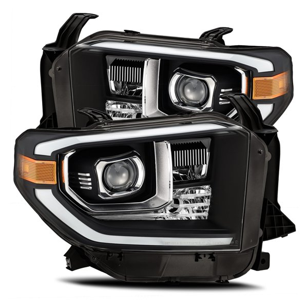 AlphaRex PRO-Series LED Projector Headlights Black For 2nd Gen Tundra (2014+)