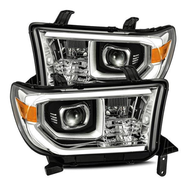 AlphaRex PRO-Series LED Projector Headlights Chrome For 2nd Gen Tundra (2007-2013)