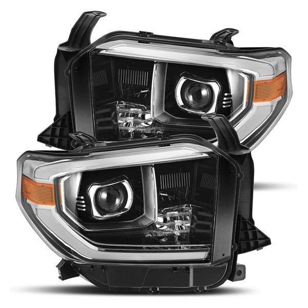 AlphaRex PRO-Series LED Projector Headlights Jet Black For 2nd Gen Tundra (2014+)